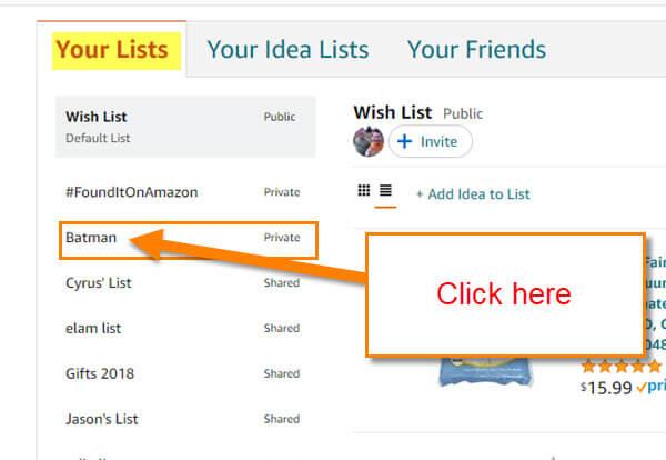 your-list-menu