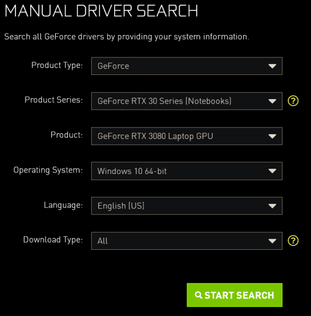 nvidia-driver-support-page