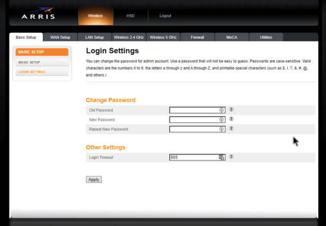 arris-router-login-settings
