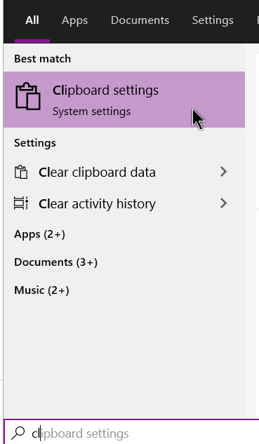 windows-10-search-clipboard-settings